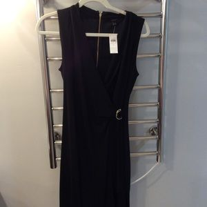NWT sleeveless Black Ann Taylor Wrap Dress